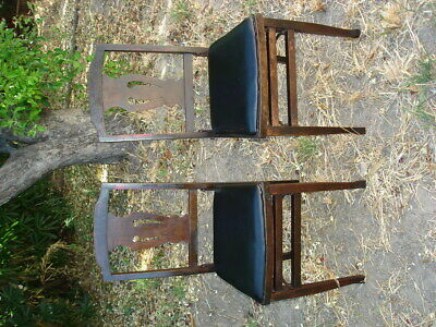 2 Solid Kumfort Antique wooden Folding Chairs USA patent Louis Rastetter & Sons 5