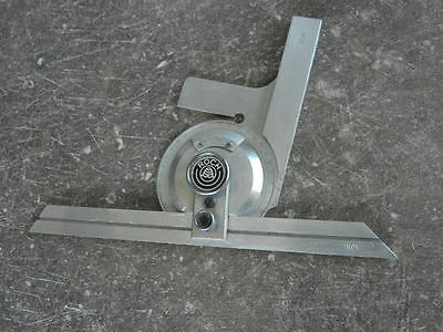vintage tool roch swiss Combination Square Engineers Toolmakers Lathe PROTRACTOR 7