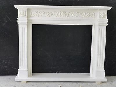 Beautiful Hand Carved Marble European Design Marble Figural Fireplace Mantel Z5 4