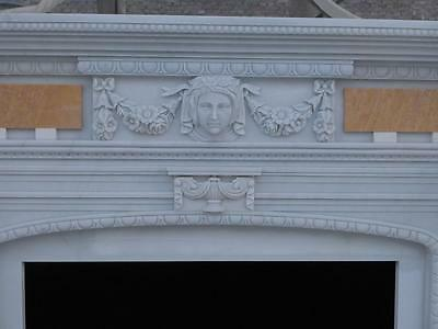 Beautiful Hand Carved Marble European Design Marble Figural Fireplace Mantel 3