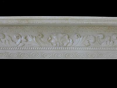 Beautiful Hand Carved Marble European Design Marble Figural Fireplace Mantel Z1 3