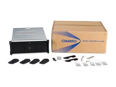 Plastic 4U Rackmount Server Case for Tesla GP CHENBRO RM41300-FS81 Black Steel