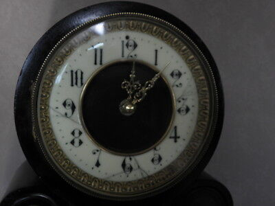 antique clock marbre century mounted marble red mantel for clock old french uhr 7