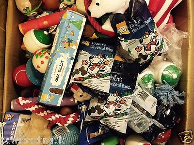 10 X Bargain Christmas Xmas Bundle Toys  Treats Pet Puppy Dog Doggy Chew Toy 10