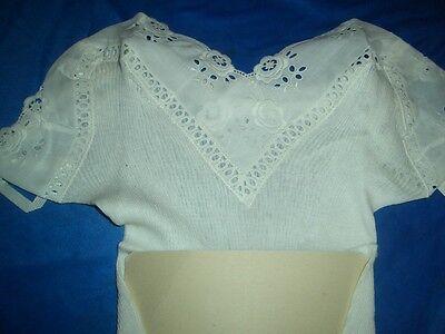 RAR Vintage Luxus Bleyle Unterhemd Chemise Gr. 42 weiß ungetragen OVP  (H392) 3