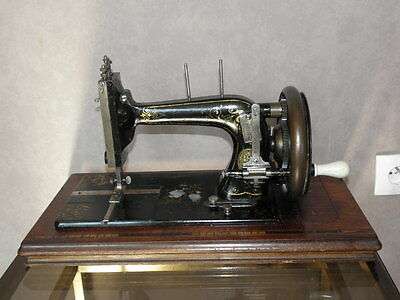 ANTIQUE SEWING MACHINE Winselmann old Hand Crank TOOLS vintage century iron 2