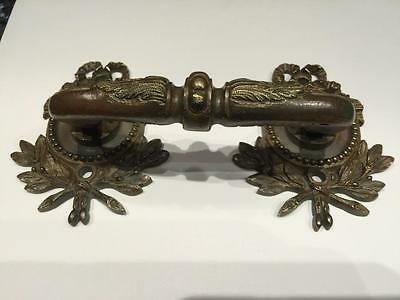 Stunning Antique French bronze/brass pull / handle signed. L. Pinet. 2