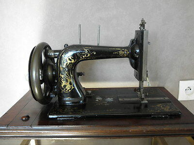 ANTIQUE SEWING MACHINE Winselmann old Hand Crank TOOLS vintage century iron 10