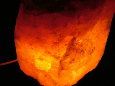 Lampada Di Sale Himalayano Arredo Salt Lamp Lanterna Atmosfera Etnico Cm 17/21