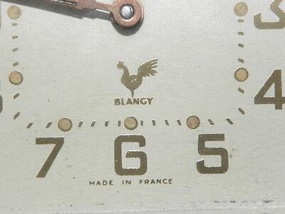 vintage clock alarm blangy retro desk  Art Deco design  Mechanics uhr old french 5