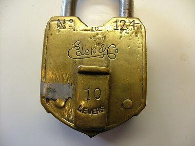 Eder & Co 10 Lever Brass Padlock, No Key 6