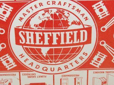 """VTG Advertising Sheffield Master Craftsman Orange & White Metal Serving Tray 18"""""""