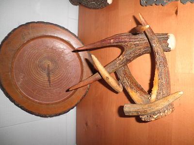 Trofeos Cazador Jarra Cornamenta Cuerno Ciervo Puntas Cuerna Gamo Retablo Metal 4