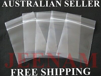 300 Small ZipLock Zip Lock Plastic Resealable Plastic Bag 40MMX50MM + FREE SHIP