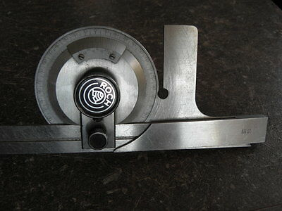vintage tool roch swiss Combination Square Engineers Toolmakers Lathe PROTRACTOR 10