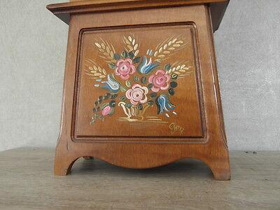 Clock Chime Longcase  Musical horloge retro vintage pendule polychromatic wood 3