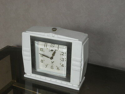 vintage clock alarm blangy retro desk  Art Deco design  Mechanics uhr old french 2