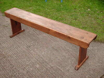 Antique  Rustic  Pine  Bench 6