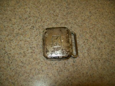 Vintage Belt Buckles Solid Brass Sterling & Pioneer Silver Plate (Lot of 3) 7