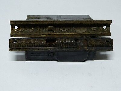 1870's Cast Brass & Iron Mallory Wheeler Pocket Door Mortise Locks & Escutcheon 2