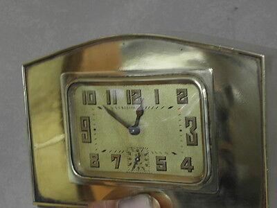 vintage clock alarm Bayard retro desk  Art Deco design Mechanics uhr old bauhaus 5