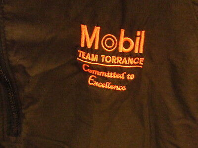 Mobil Oil ~Team Torrance ~ Committed To Excellence Windbreaker / Jacket~Size M