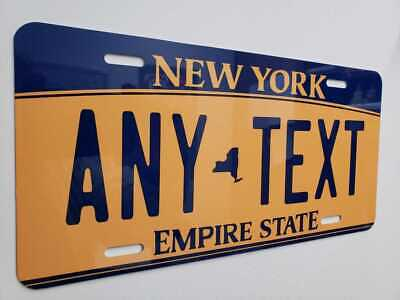 CUSTOMIZE THIS NEW YORK LICENSE PLATE - ANY TEXT YOU WANT, novelty AUTO plate 2