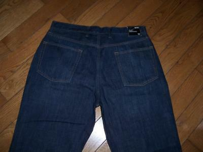 Men's Nwt Gap Relaxed Coupe Decontractee Dark Denim Jeans Size 36 X 30 3