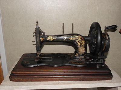ANTIQUE SEWING MACHINE singer old Hand Crank TOOLS vintage century iron 9