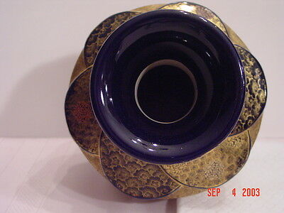 Japanese Antique Satsuma Vase Rare Color Signed Kinkozan 455350