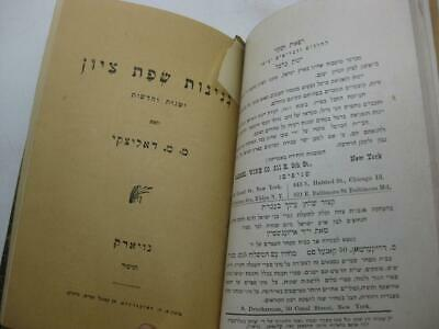 1904 New York 2 1st EDITIONS by Menahem  Dolitski נגינות שפת ציון / החלום ושברו 5