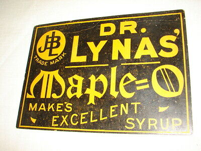 Antique Dr. Lynas' Maple Makes Excellant Syrup Heavy Paper Stock Country Store S 2