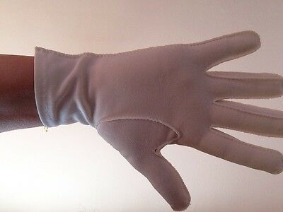 vintage gloves...cream Fabric...approx Size 7 5