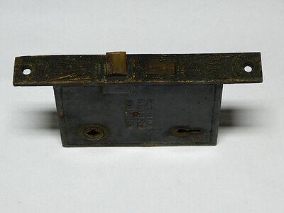 1870's Cast Brass & Iron Mallory Wheeler Interior Door Mortise Lock 2