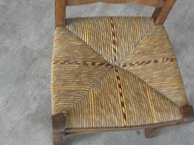 Vintage Chair wood Oak antique Farmhouse Stool Children Bench Seat Kid armchai 3
