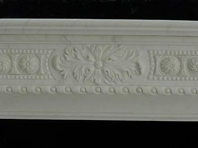 Beautiful Hand Carved Marble European Design Marble Figural Fireplace Mantel Z7 3