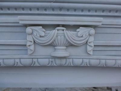 Beautiful Hand Carved Marble European Design Marble Figural Fireplace Mantel 8