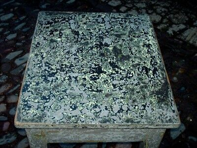 Antique Rustic Pine Painted Side Table 2