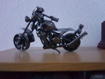 Metall-Motorradmodell Modell Motorrad Handgefertigt 13x6x7cm Neu