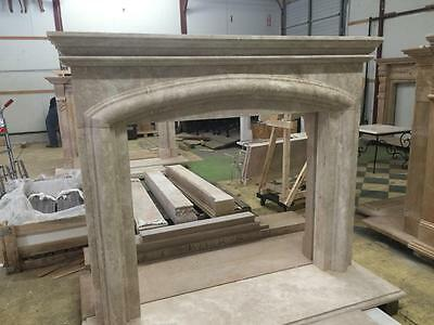 Beautiful Large Hand Carved Marble Estate Fireplace Mantel - Jd608 2