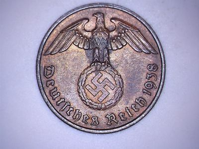 SWASTIKA copper penny ww2 .The real coin,no fakes nazi 8