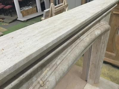 Beautiful Large Hand Carved Marble Estate Fireplace Mantel - Jd608 10