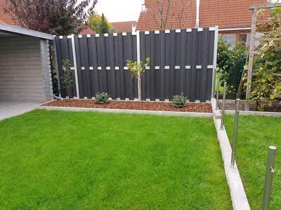 Beliebt TÜR FÜR SOLIDER WPC Sichtschutz Zaun Gartenzaun Windschutz GS34