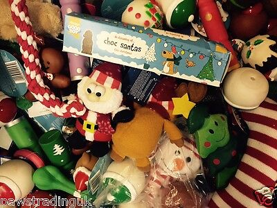 10 X Bargain Christmas Xmas Bundle Toys  Treats Pet Puppy Dog Doggy Chew Toy 8