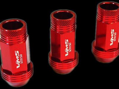 VMS 20PC CHEVY CORVETTE C4 C5 C6 C7 48MM PREMIUM ALUMINUM LUG NUTS 12X1.5 ORANGE