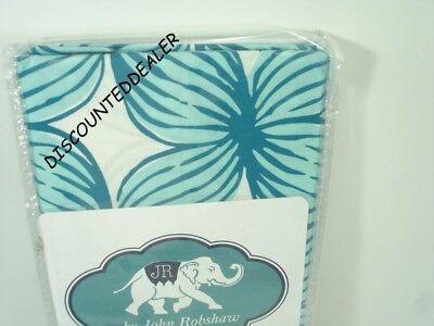 John Robshaw Jamali KING Sham Turquoise Blue Green White  NEW
