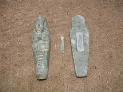 Rare Egyptian Ushabti Stone Coffin Mummy Burial Sarcophogus With Mummy Inside 2