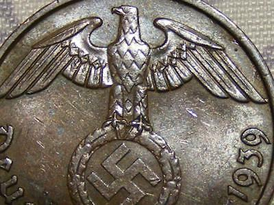 SWASTIKA copper penny ww2 .The real coin,no fakes nazi 2