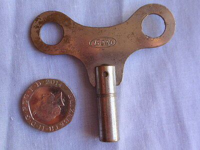 Vintage Steel Clock Key (2) 2