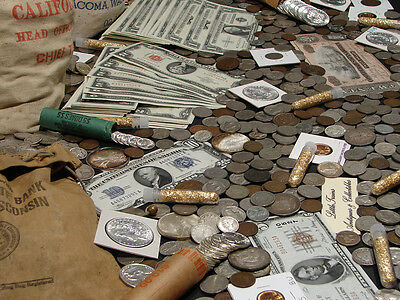 ☆Estate Sale Old Us Coins Lot  ☆ Gold Silver Bullion☆ Currency☆ 50 Years Old+ 11